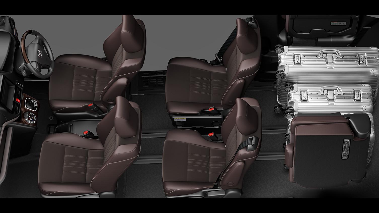 エスクァイア、7人乗り8人乗り比較、ラゲージモード