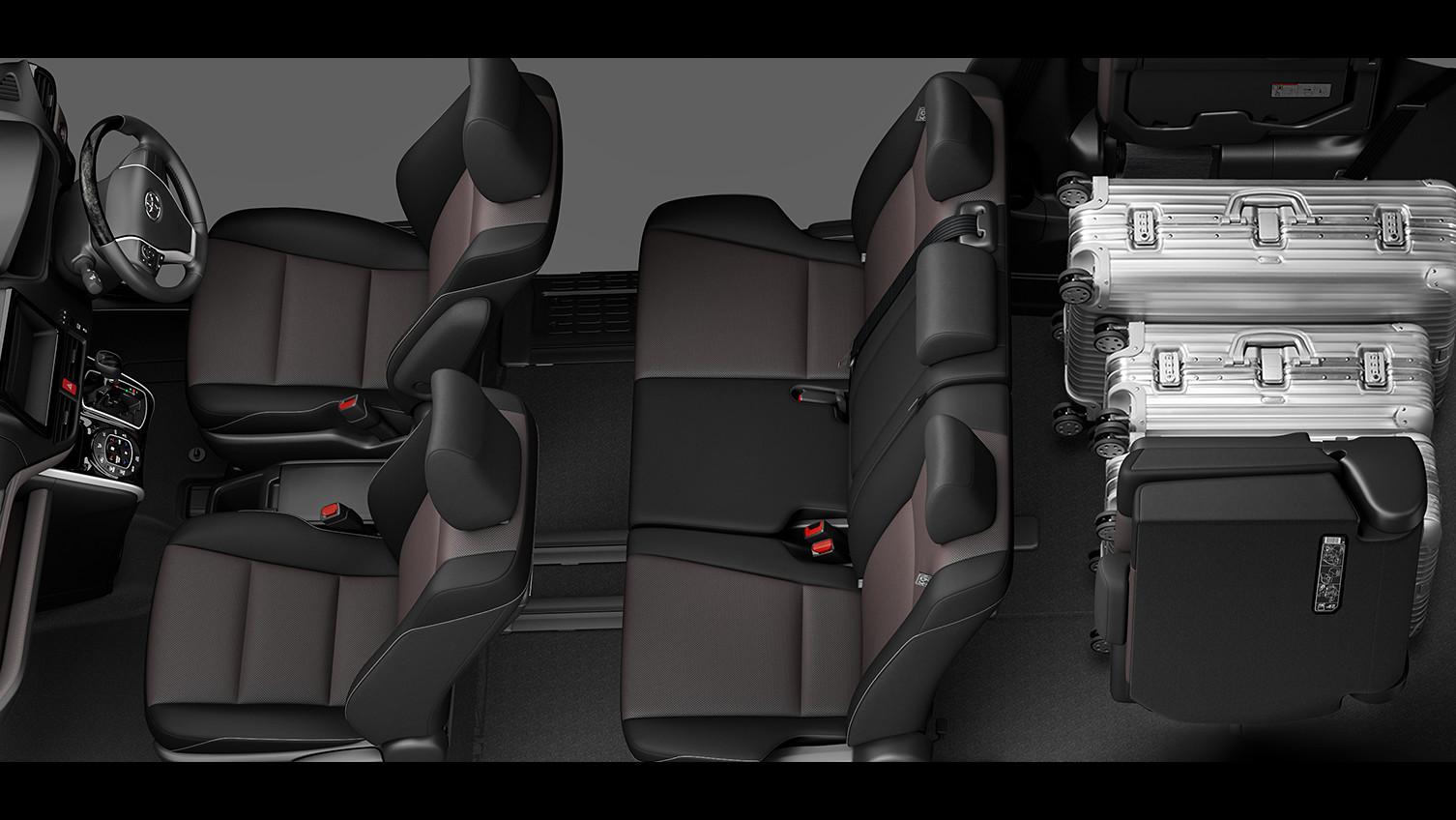 エスクァイア、7人乗り8人乗り比較、8人乗りラゲージモード