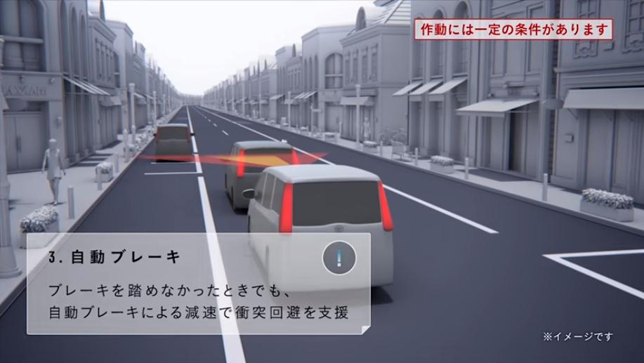エスクァイア、安全性能、自動ブレーキ